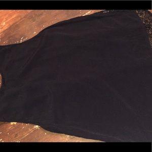 Lace back black tank by Elodie.